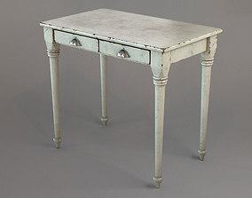 Vintage white table 3D model