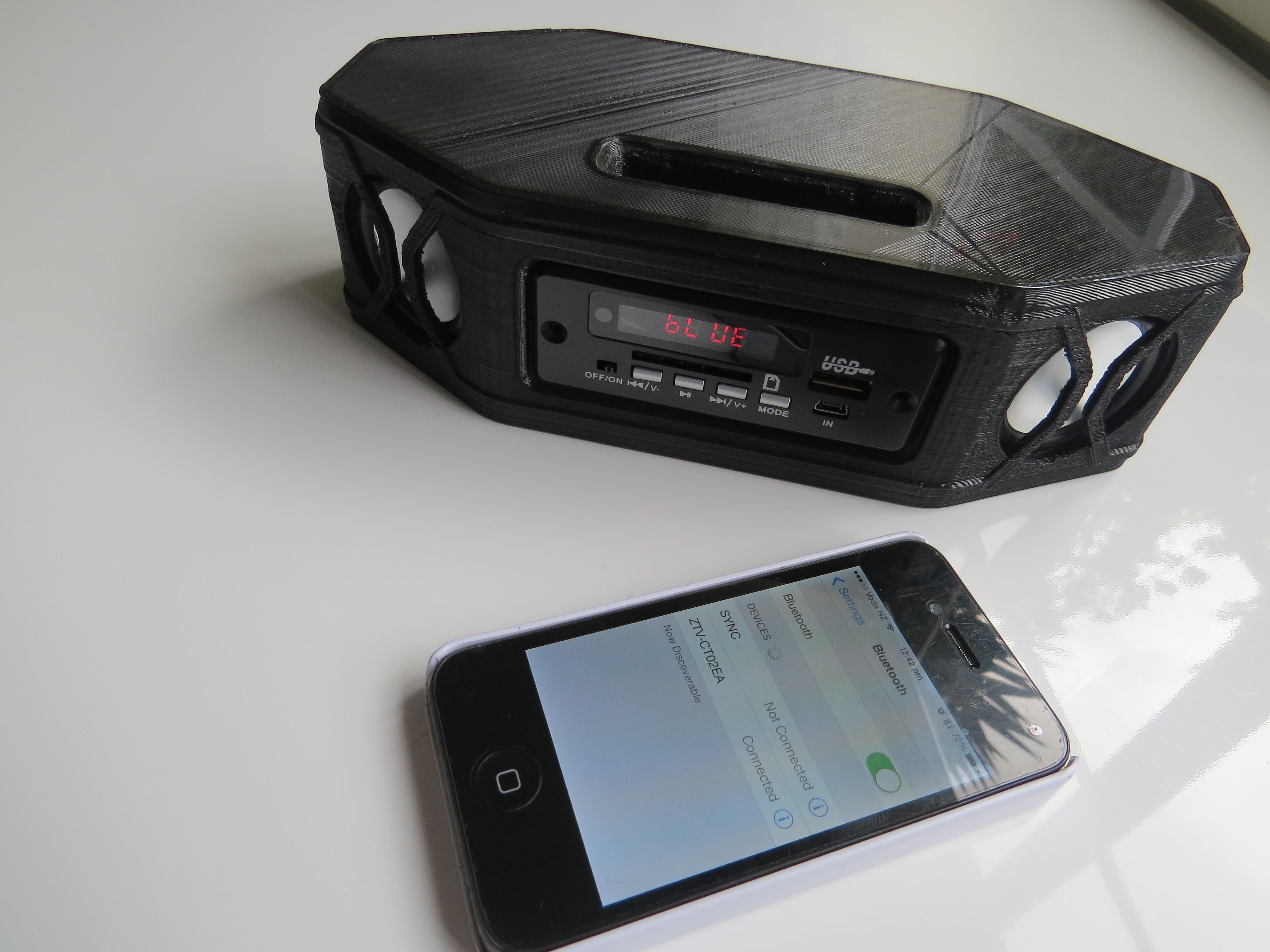 portable bluetooth stereo speaker   model  printable stl cgtradercom