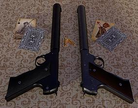 rigged High Standard HDM Pistol 3D Model