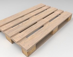 wooden 3D Pallet 1200 x 800 mm