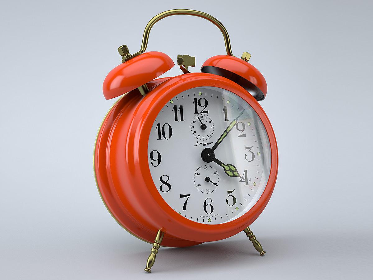 Vintage Alarm Clock 3D model | CGTrader