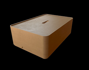 3D model Wooden Storage Box