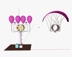 Aerial WEH wind energy harvester 3D model