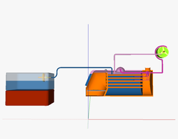 TECS thermal energy conversion system 3D model