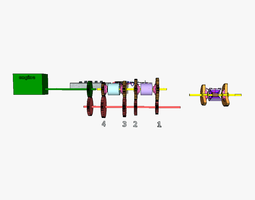 Electrically shifted gearbox 3D