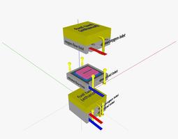 3d model direct-ethanol fuel cell defc