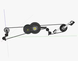 electric bicycle drivetrain t1 3d model