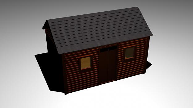 shed 3d model max obj mtl 1