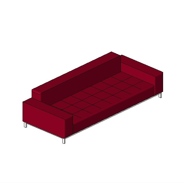 Banquette 3 places free 3d model rfa - Banquette convertible 2 places ...