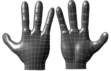 cartoon hand 3d model obj mtl 1