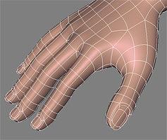 human hand 3d model obj mtl 1