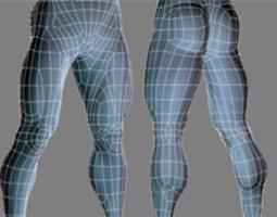human legs 3D model