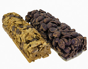 Cereal Bars kit - Chocolate and Muesli 3D