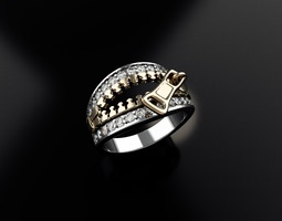 Ring for Womens 2 Ziper 3D printable model