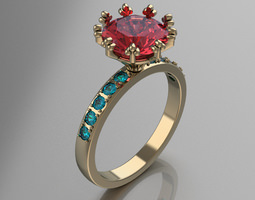 3D print model Ring for Womens jewelry