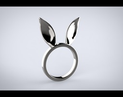 bunny ears ring 3d print model