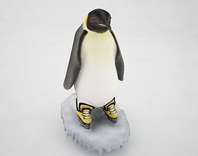 Penguin 3D model low-poly