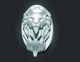 3d printable model lion head sculpture