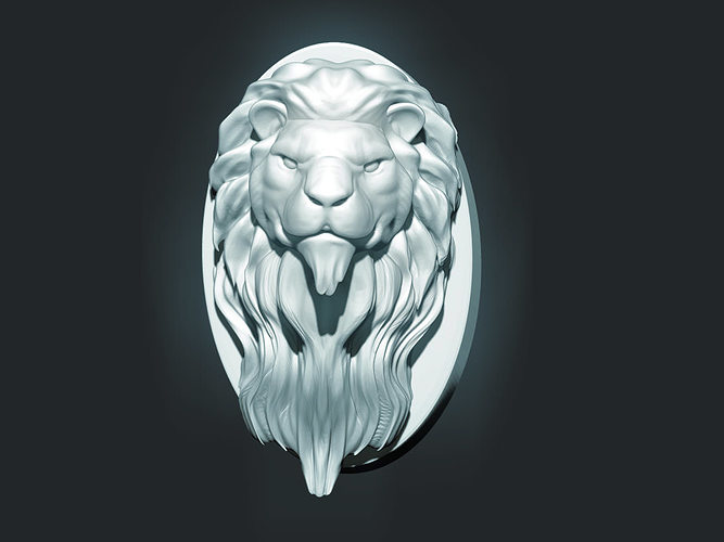 lion head sculpture 3d model stl 1