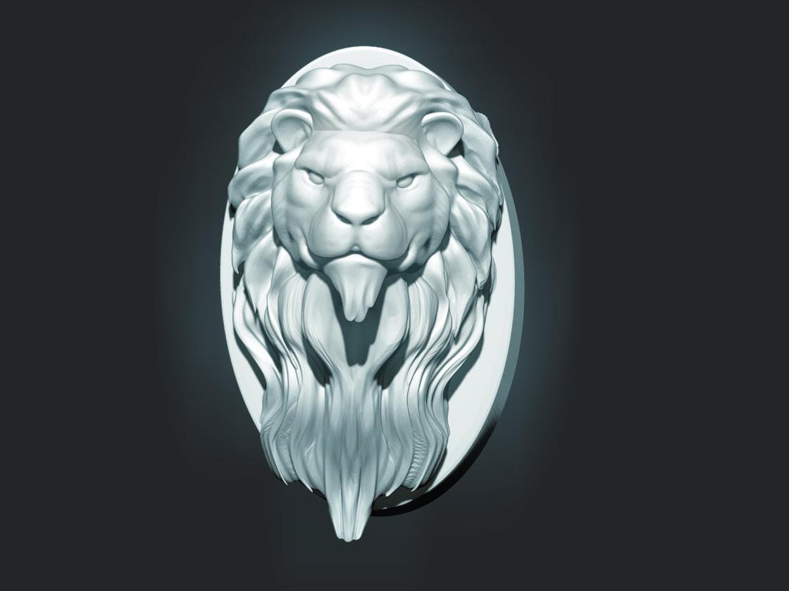 Lion Head Sculpture 3d Model 3d Printable Stl Cgtrader Com