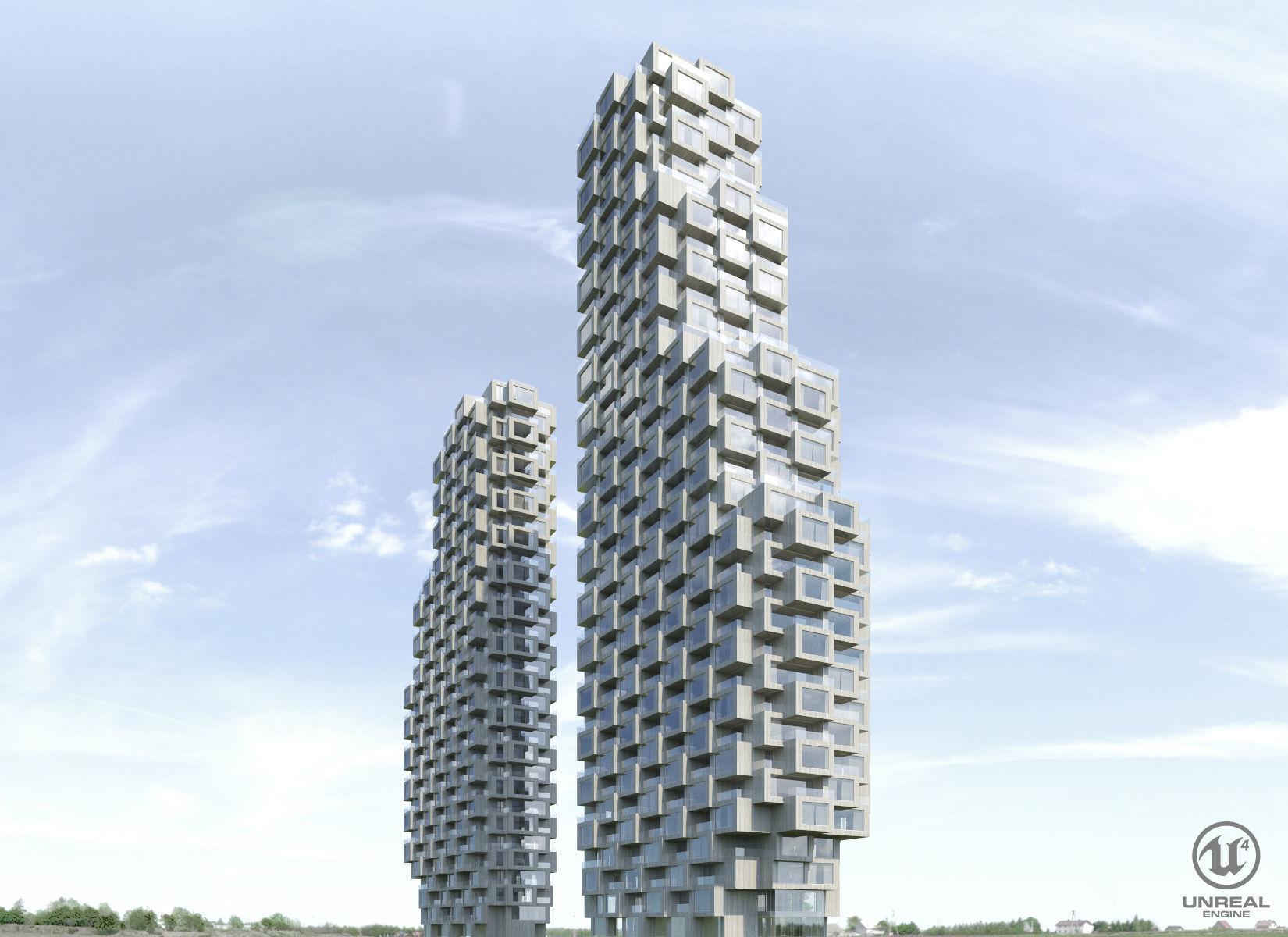 Norra Tornen | 3D model