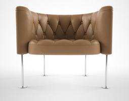walter knoll hausmann 310 armchair 3d model