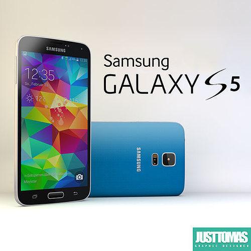 samsung galaxy s5 3d model obj 3ds c4d 1