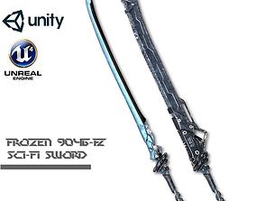 Sci-fi Frozen Sword 3D asset rigged
