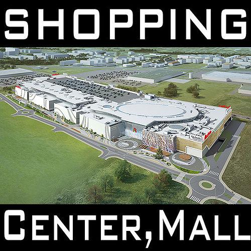 mall shopping center retail store 3d model max obj mtl 3ds fbx c4d lwo lw lws 1