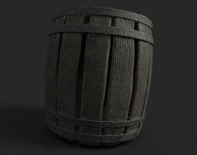 tree 3D model game-ready Barrel