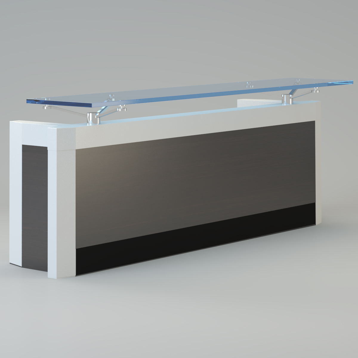 3D model Contemporary reception desk | CGTrader for Modern Office Reception Table Design  143gtk