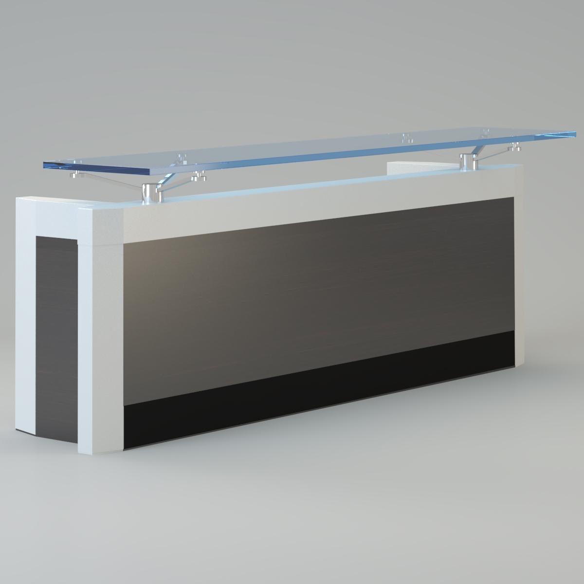 Great ... Contemporary Reception Desk 3d Model Max 3 ...