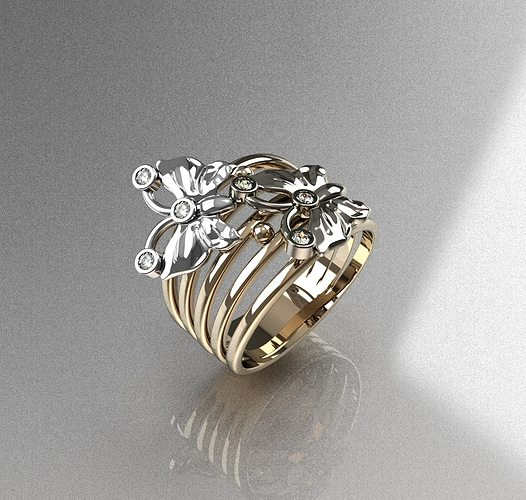 ring butterfly 3d model stl 1