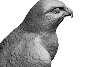 game-ready poly 3D model falcon bird basic shape