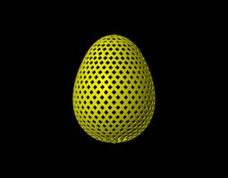 3D model Easter Egg squares