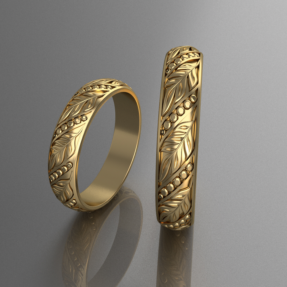 Wedding Rings 5 3d Model 3d Printable Stl Cgtrader Com