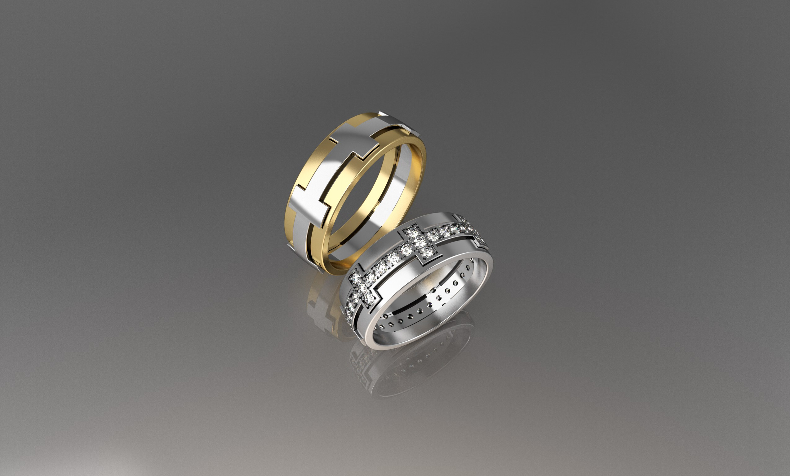 a printed printing sizes pinshape tron ring by wedding halotron items rings i inspired halo girgis daniel