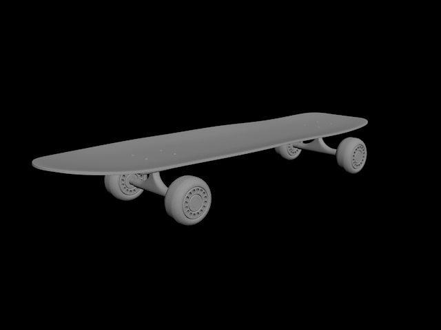 Skateboard 3d skateboard cgtrader - Skateboard mobel ...