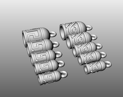 3D printable model Inserts for leather laces