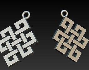 mystic knot pendant 3D printable model