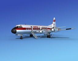 Lockheed L-188 Electra HP Qantas 3D model