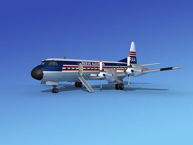 l-188 electra reeve aleutian airways 3d model max obj mtl 3ds lwo lw lws stl 3dm 1