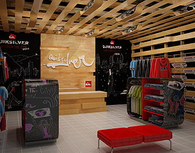 3D model Clothing Store interior Quiksilver 1