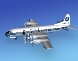 3D model Lockheed L-188 Electra HP Varig