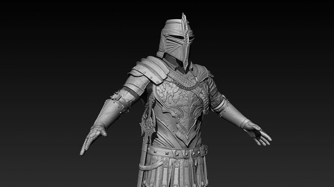 knight zbrush 3d model obj mtl ztl 1