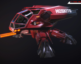 3D model Y782 Moskito Lowpoly
