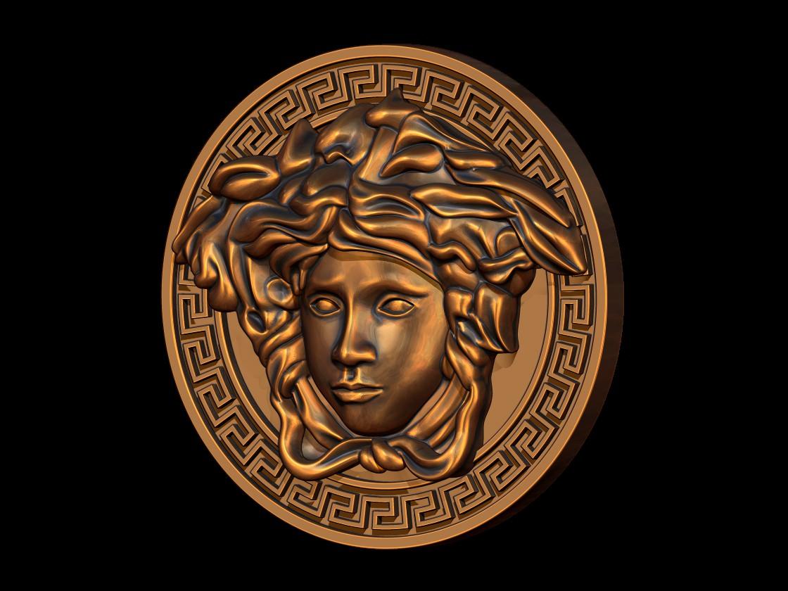 Versace Logo 3D Model 3D printable STL BLEND 3DM IGE IGS ...
