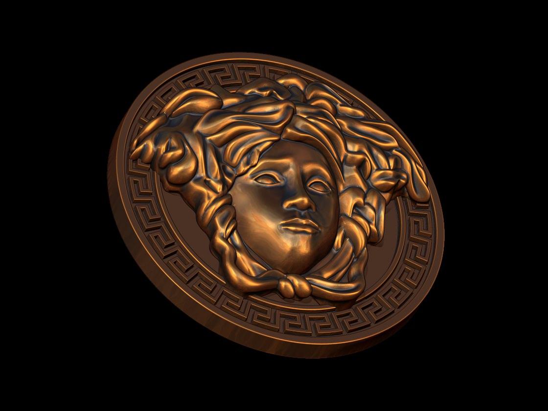 versace logo 3d model 3d printable dxf stl blend 3dm ige