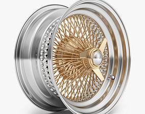100 Spoke Wire Wheel Rim 3D model
