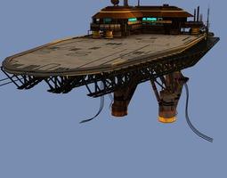 3d model landing platform scifi